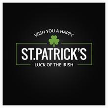 Patrick Day Logo On Dark Backg...