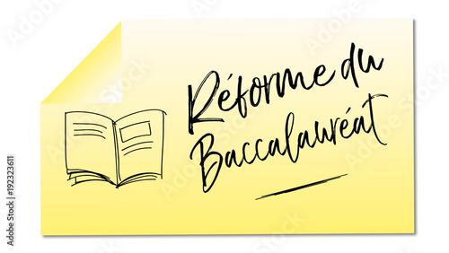 réforme du baccalauréat mémo jaune livre Canvas Print