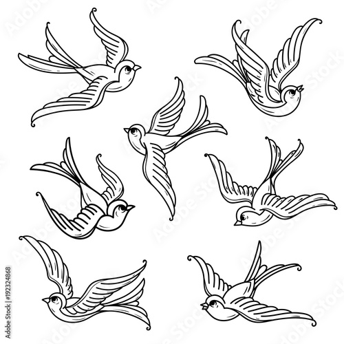 Set Of Flying Bluebirds Free Birdsmbol Of Hope Buy This Stock