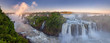 The amazing Iguazu falls, summer landscape with scenic waterfalls