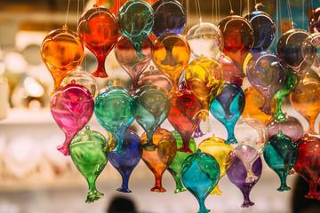 Murano glass figures in a venice shop