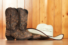 Cowgirl Embroidered Boots And ...