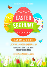 Easter Egg Hunt Poster Vector ...