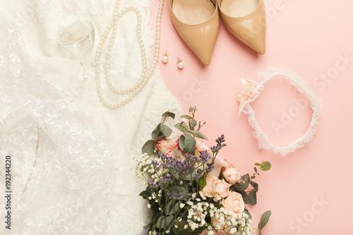 Fotografie, Obraz  Wedding preparation top view