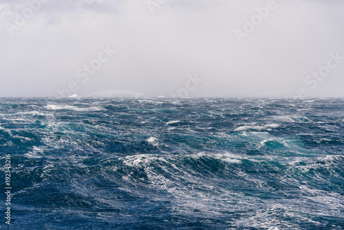 Foto op Canvas Antarctica Beautiful stormy seascape