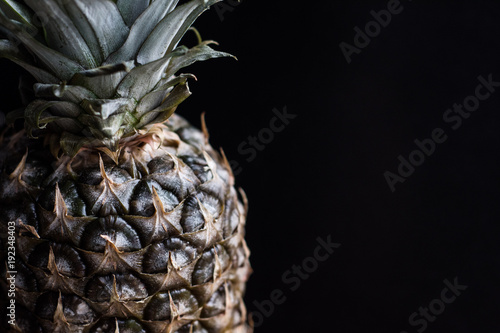 Fototapety, obrazy: pineapple on black background