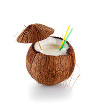 Coconut Cocktail Isolated On W...