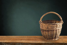 Isolated Basket. One Vintage W...