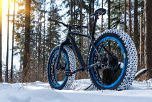 Fatbike In The Winter Forest O...