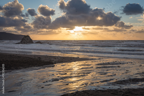 Photo  Blackrock at Widemouth beach, Cornwall
