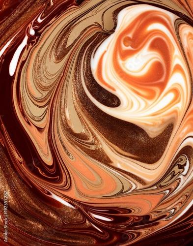 Swirled brown liquid cosmetics