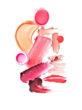Smeared Pink And Red Cosmetics...