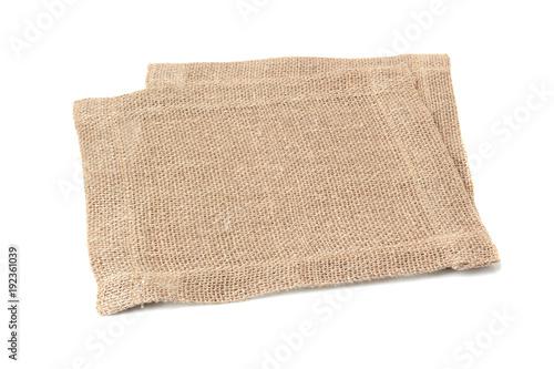 Two linen napkins on white