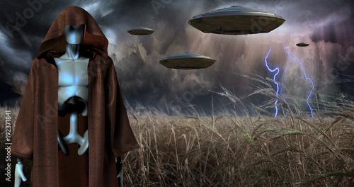 Canvas Print Alien Invasion