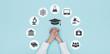 Leinwanddruck Bild - University and education icons