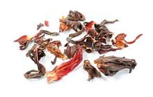 Dried Hibiscus Flower Tea Isol...