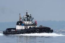 Ocean Going Tug Underway On Pu...