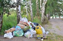 Garbage Dump On The Grass Near...