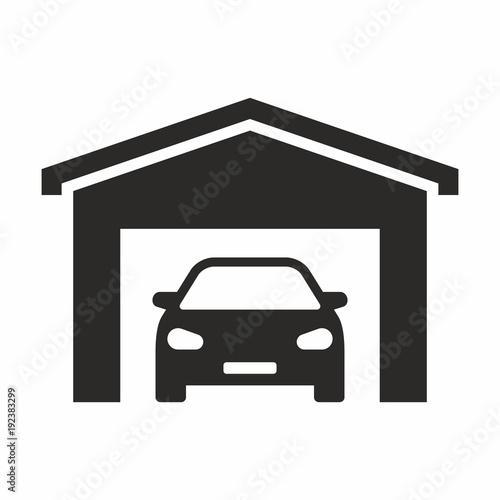 Valokuvatapetti Garage icon