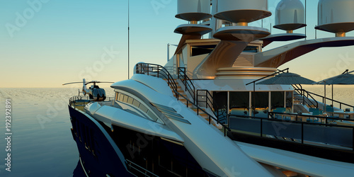 Fotografía Extremely detailed and realistic high resolution 3D illustration of a luxury sup