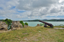 An Old Cannon At Fort James, A...