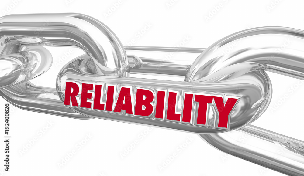 Fototapeta Reliability Strong Link Holding Together Word 3d Illustration