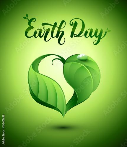 Valokuva  Nature coeur feuilles. Earth Day. Journée de la Terre