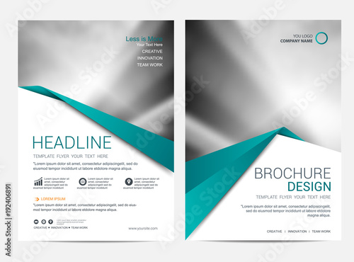Fototapeta Brochure template flyer design vector background obraz