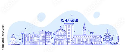Photographie  Copenhagen skyline Denmark vector city buildings