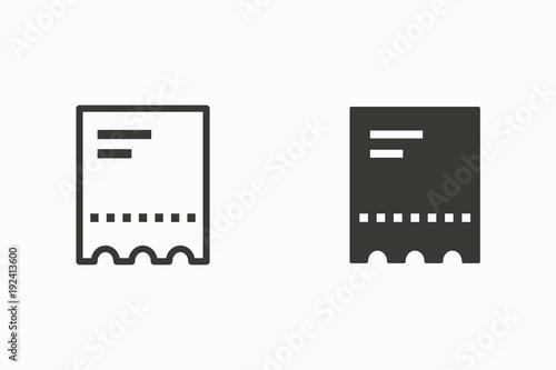 Fotografía  Ticket vector icon.