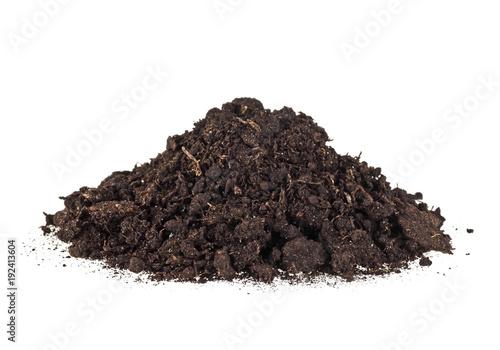 Carta da parati Pile dirt of soil land on white background