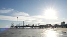 Tourist Looking At Galveston P...