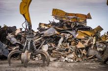 Large Tracked Excavator Workin...