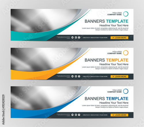 Abstract Web banner design background or header Templates Fototapete
