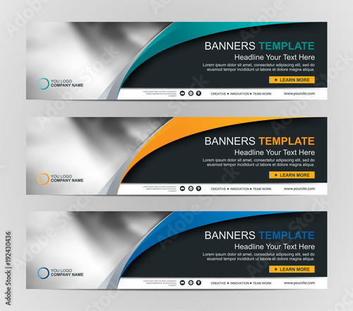 Obraz Abstract Web banner design background or header Templates - fototapety do salonu