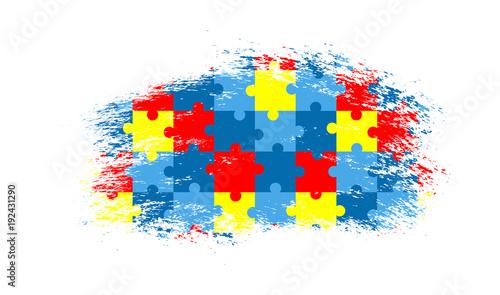 Photo Vector grunge puzzle background