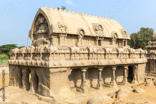 Fotografering The Five Rathas, Bhima ratha, Mahabalipuram, Tamil Nadu, India