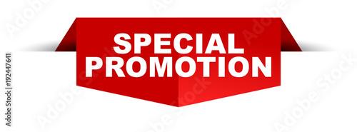 Fotografía  banner special promotion