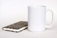 15 Oz White Ceramic Mug Mockup...