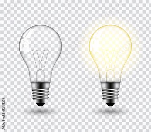 Photo  Light bulb vector.