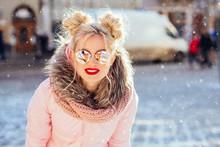 Portrait Of Fashionable Blond ...