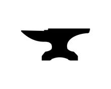 Black Anvil For Forging Symbol Logo Vector