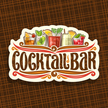 Vector Logo For Cocktail Bar, ...