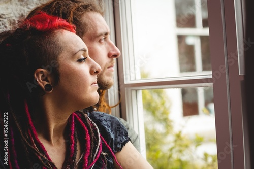 Couple by window
