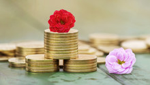 Web Banner Of Gold Coins And F...