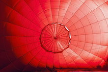 Inside A Red Hot Air Balloon I...