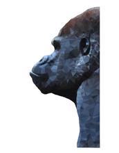 Polygon Animal. Triangle Gorilla