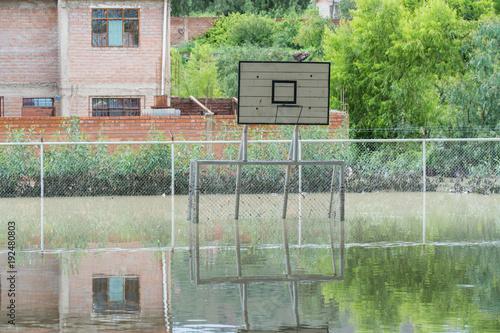 Plakat Powódź w Vinto, Cochabamba, Boliwia