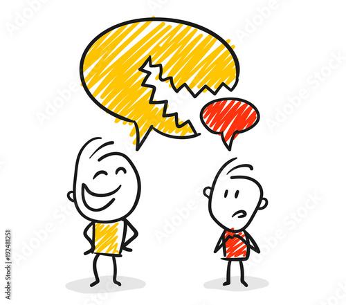 Strichfiguren / Strichmännchen: Argument, Unterbrechen