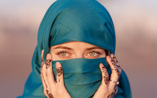 Arabian Moroccan Woman With Bl...